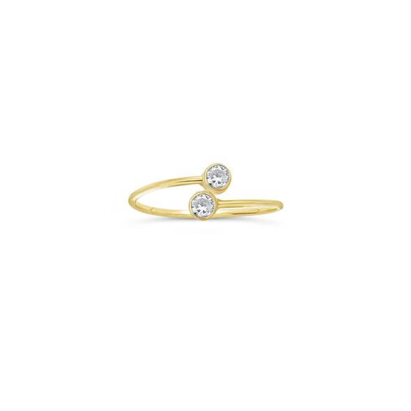 Image of Cubic Zirconia Two Stone Ring