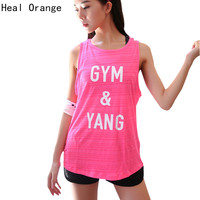 Woman Running Vest Tank Gym Quick Dry Sports Vest For Women Sports Top Shirts Fitness Sportswear Gym Clothing Running Singlet