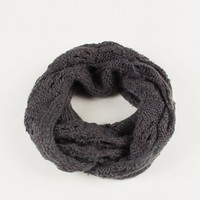 Holey Knit Infinity Scarf - Dusty Blue