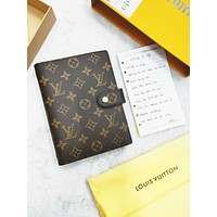 LV Louis Vuitton Trending Women Men Classic Notebook Portable Hand Book