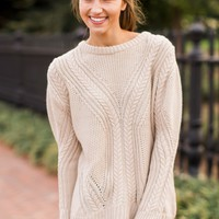 Cozy And Cute Oatmeal Sweater