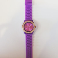 Purple Rose Gold Watch