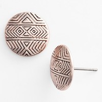 Women's House of Harlow 1960 'Tholos' Engraved Stud Earrings