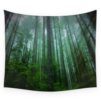 Society6 Misty Mountain Forest Wall Tapestry