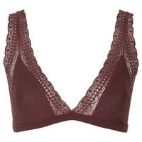 High Apex Lace and Jersey Bra - Topshop