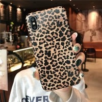 Fashion Leopard Phone Case for iphone X XS Max XR 7 8 6 S 6S Plus 7Plus 8Plus Ultra-thin Soft Silicone Cover for iphone 7 Cases