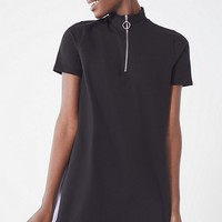 UO Colorblock Zipper Mock-Neck Dress | Urban Outfitters