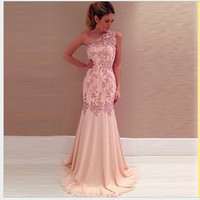 Lace Sexy Prom Dress One Piece Dress [9324558404]