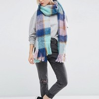 ASOS Ultra Brushed Oversized Woven Scarf at asos.com
