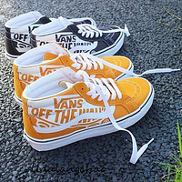 Vans classic stitching letter graffiti low-top canvas shoes fashion men and women sneakers