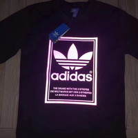 Adidas Fashion 3M Reflective Print Pullover Tops Sweater Sweatshirts