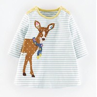 Girls Applique Jersey Dress Deer