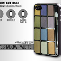 Eyeshadow Makeup Palette Iphone Cool Case Iphone 4 case Hipster Iphone 5 case Iphone 4s case Samsung Galaxy S3 Case
