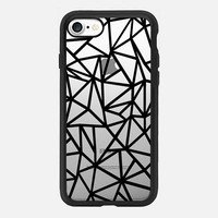 Abstraction Dense Black Transparent iPhone 7 Case by Project M | Casetify