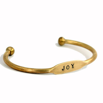 Joy Cuff Bracelet - Affirmation Jewelry