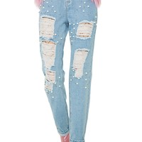 Mermaid Dreamz Distressed Jeans