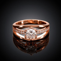 Venusian Rose Gold Plated Ring
