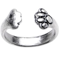 Silver Plated Bear Hug Toe Ring