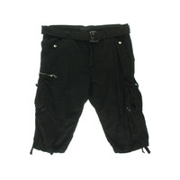 X-RAY Jeans Mens Paper Touch Solid Cotton Cargo Shorts