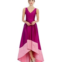 Adrianna Papell Two Tone Hi-Low Gown | Dillards