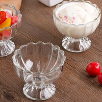 Transparent Cup Milkshake Beverage Dessert Salad Bowl Home Kitchen Accessories