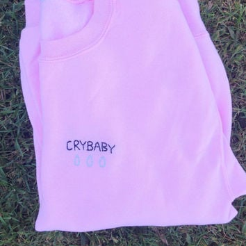 CRYBABY WITH TEARS Aesthetic Pink Sweatshirt