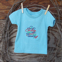 Baby Boys clothing, Embroidered T Shirt Light Blue, Cowboys Don't Bath saying, 6, 12, 18 months