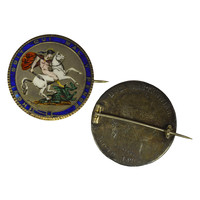 1820 Great Britain Enameled Crown Brooch