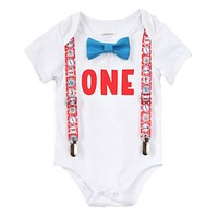 Baby Boy Dr. Seuss First Birthday Outfit Baby Boy Cat in the Hat Thing