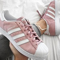 """Adidas"" Fashion Women Men Running Sport Flats Shoes Sneakers"