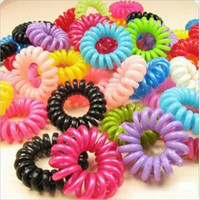 Women 20Pieces Elastic Rubber Hairband Phone Wire Hair Tie Ring Rope Band Ponytail