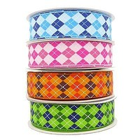 Grosgrain Argyle Ribbon, 7/8-inch, 10-yard, CLOSEOUT