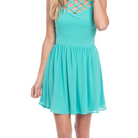 Baja Babe Lattice Fit and Flare Dress