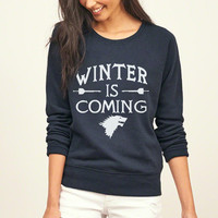 Funny Games of Thrones Winter Is Coming Women harajuku sweatshirt 2016 female Casual hip-hop hoodies kpop tracksuit mma pullover
