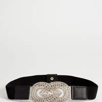 rhinestone knot stretch belt