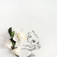 squirrel and Flower Photograph No. 88233