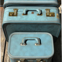1950s Honeymoon Luggage Set  by US Trunk Company by SucreSucre