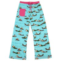 """Lazy One Womens Yoga Pajama Pant """"Otter Be In Bed"""" (XSmall)"""