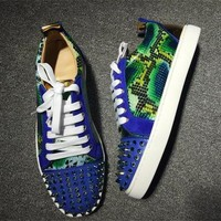Cl Christian Louboutin Low Style #2038 Sneakers Fashion Shoes