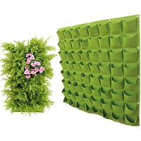Wall Hanging Planting Bags 6/9/12/18 Pockets Green Plant Grow Planter Vertical Garden Vegetable Living Bag Supplies Bags