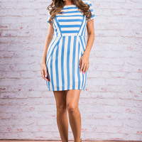 Shape Of Perfection Dress, Ice Blue