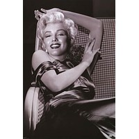 Marilyn Monroe Satin Smile Portrait Poster 24x36