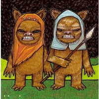 Ewoks on the Wild Side Star Wars Return of the Jedi George Lucas pop culture eighties Science Fiction full color drawing art print
