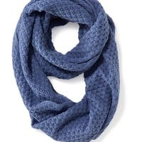 Old Navy Womens Open Weave Infinity Scarf Size One Size - Light Blue
