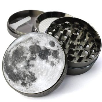 Full Moon Extra Large 5 Piece Spice Tobacco Herb Grinder with Pollen/Keef Catcher for Herb Grinders
