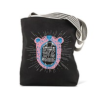 Lisa Congdon Women of the World Tote with Tiger Roar Design