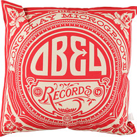 Obey Gold Label Red & White Throw Pillow