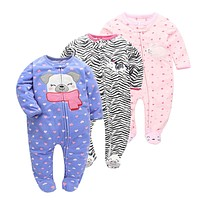 Autumn Spring Baby Rompers Clothes Long Sleeves born Boy Girls Polar Fleece Baby Jumpsuit Baby Clothing 9-24m