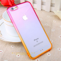 Pink & Orange Rainbow Gradient Color Phone cases for iphone 5 5s 6 6s 6  Plus