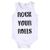 Newborn Infant Baby Boy Girl Kids Clothing Tops Bodysuits Cotton Jumpsuit Sleeveless Clothes Baby Boys Outfit